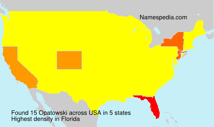 Surname Opatowski in USA