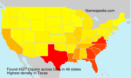 Surname Oquinn in USA