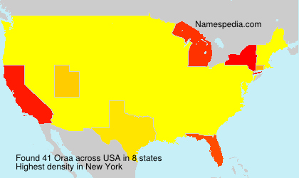 Surname Oraa in USA