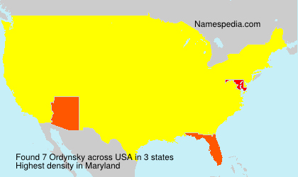 Surname Ordynsky in USA
