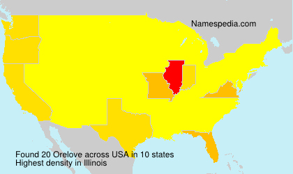 Surname Orelove in USA