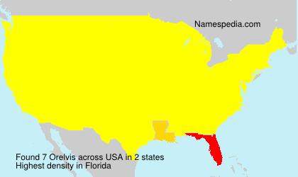 Surname Orelvis in USA