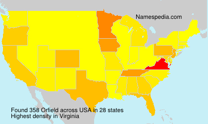 Surname Orfield in USA