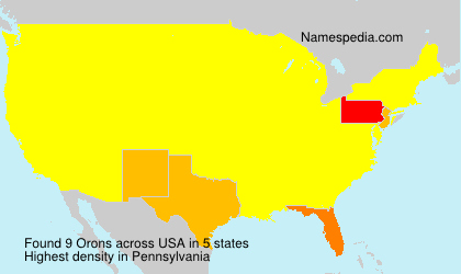 Surname Orons in USA