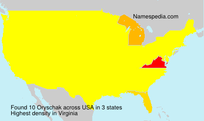 Surname Oryschak in USA