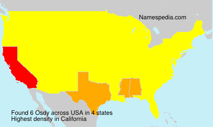 Surname Osdy in USA