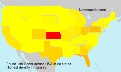 Surname Osner in USA