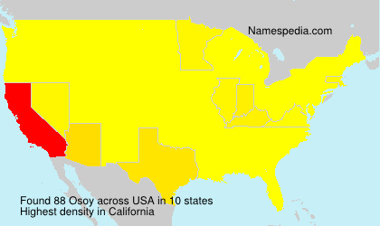 Surname Osoy in USA
