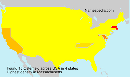 Surname Osterfield in USA
