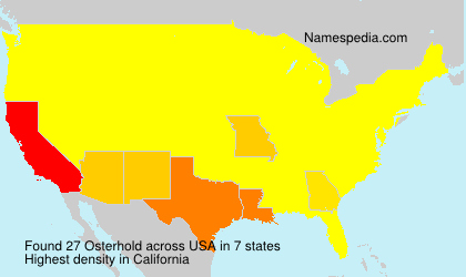 Surname Osterhold in USA
