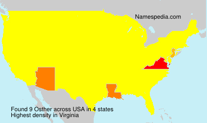 Surname Osther in USA