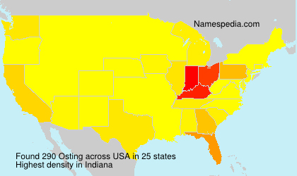 Surname Osting in USA