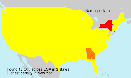 Surname Otiti in USA
