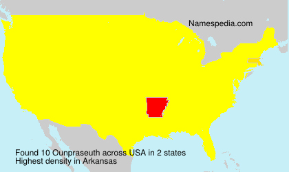 Surname Ounpraseuth in USA
