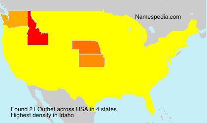 Surname Outhet in USA