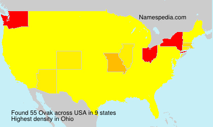 Surname Ovak in USA