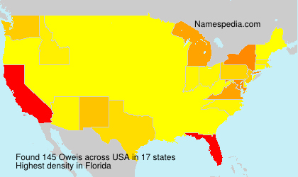 Surname Oweis in USA