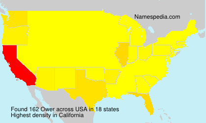 Surname Ower in USA