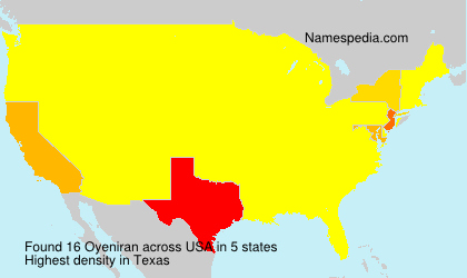 Surname Oyeniran in USA