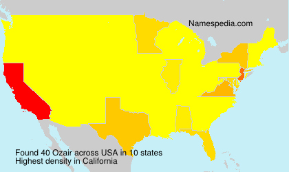 Surname Ozair in USA