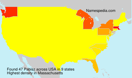 Surname Pabisz in USA