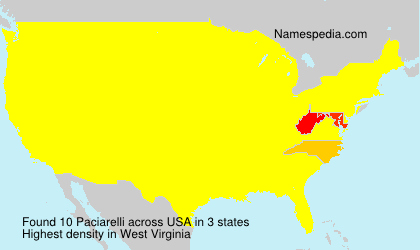 Surname Paciarelli in USA