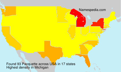 Surname Pacquette in USA