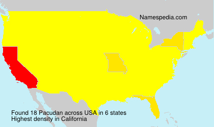 Surname Pacudan in USA
