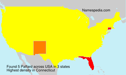 Surname Paffard in USA