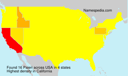 Surname Paieri in USA