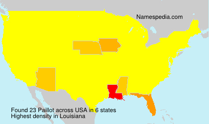 Surname Paillot in USA