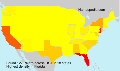 Surname Pajaro in USA