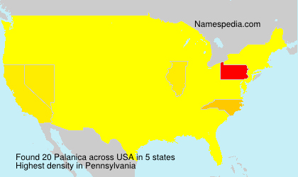 Surname Palanica in USA