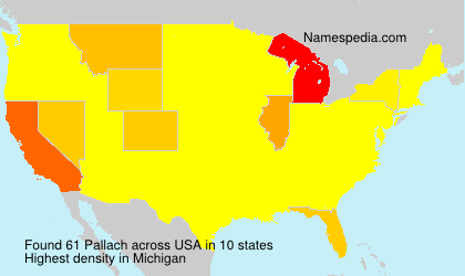 Surname Pallach in USA