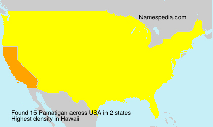 Surname Pamatigan in USA