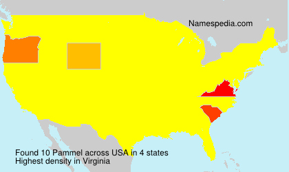 Surname Pammel in USA