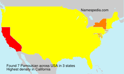 Surname Pamoukian in USA