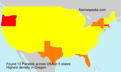 Surname Pandele in USA