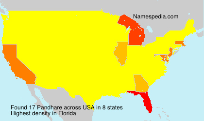 Surname Pandhare in USA