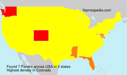 Surname Pandra in USA