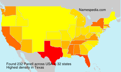 Surname Panell in USA