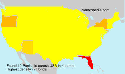 Surname Panisello in USA