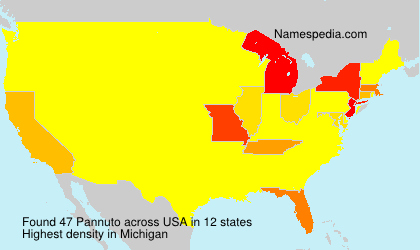 Surname Pannuto in USA