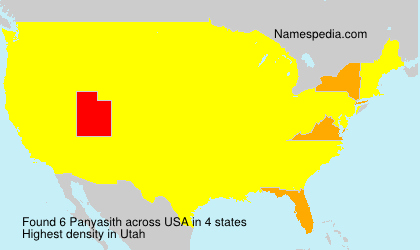 Surname Panyasith in USA