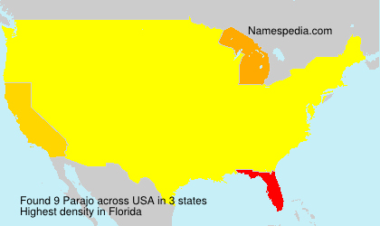Surname Parajo in USA