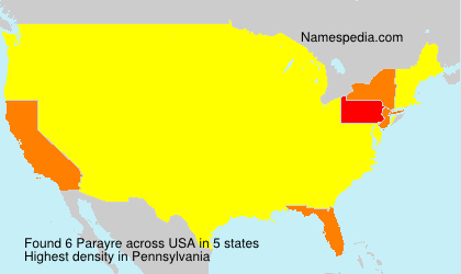 Surname Parayre in USA