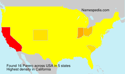 Surname Parero in USA