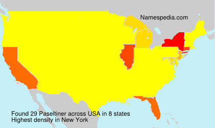 Surname Paseltiner in USA