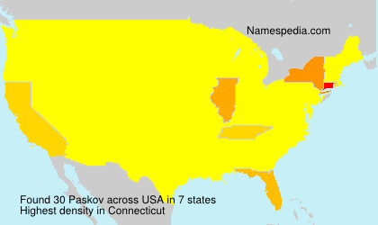 Surname Paskov in USA