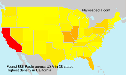 Surname Paule in USA